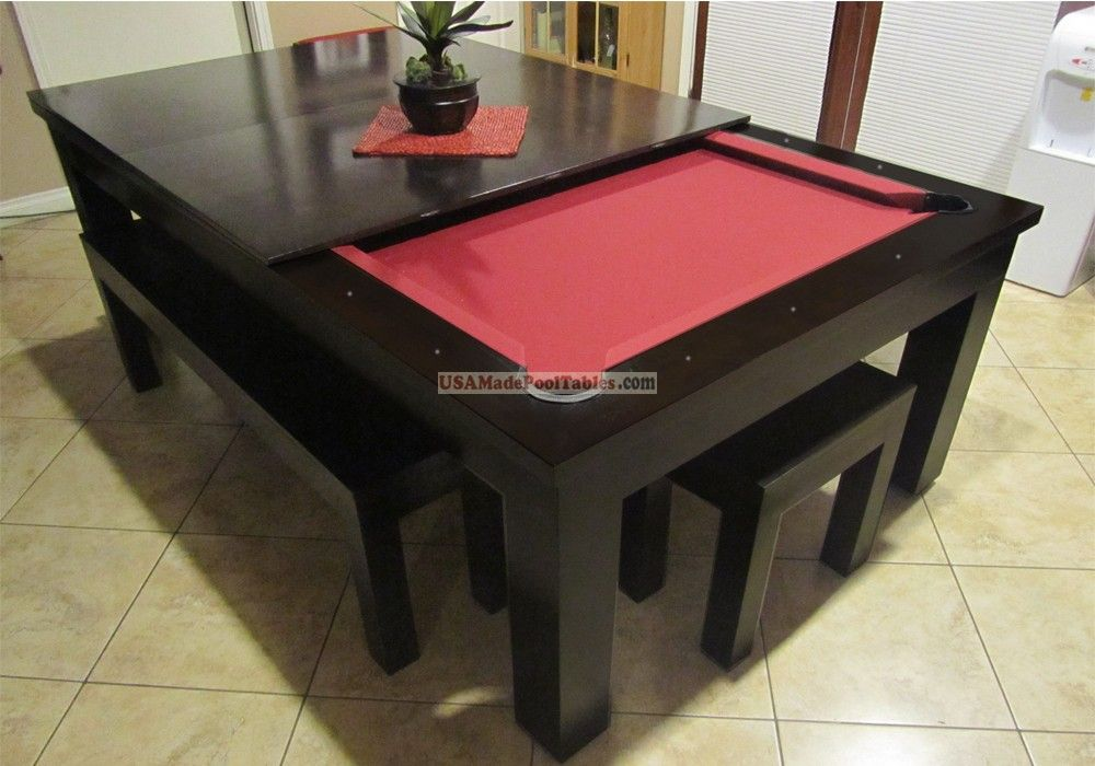 Pool Table Dining Room Combo