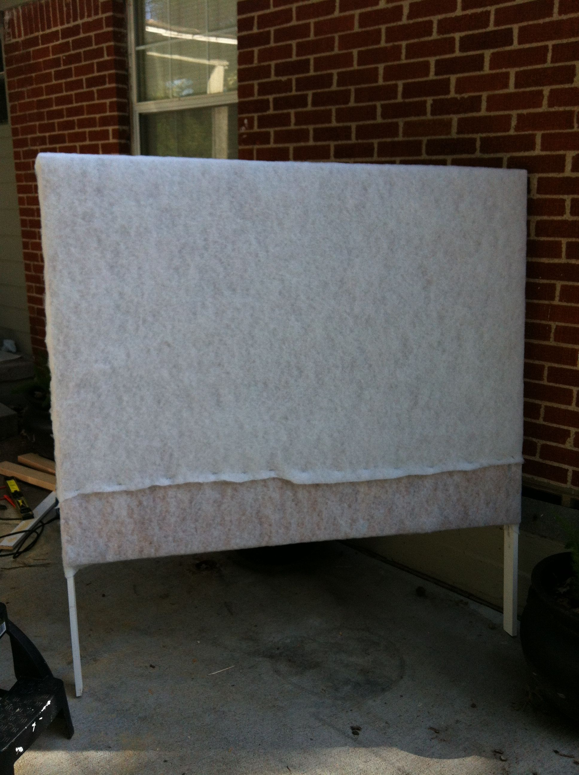 Upholstered Headboard project frame with Batting