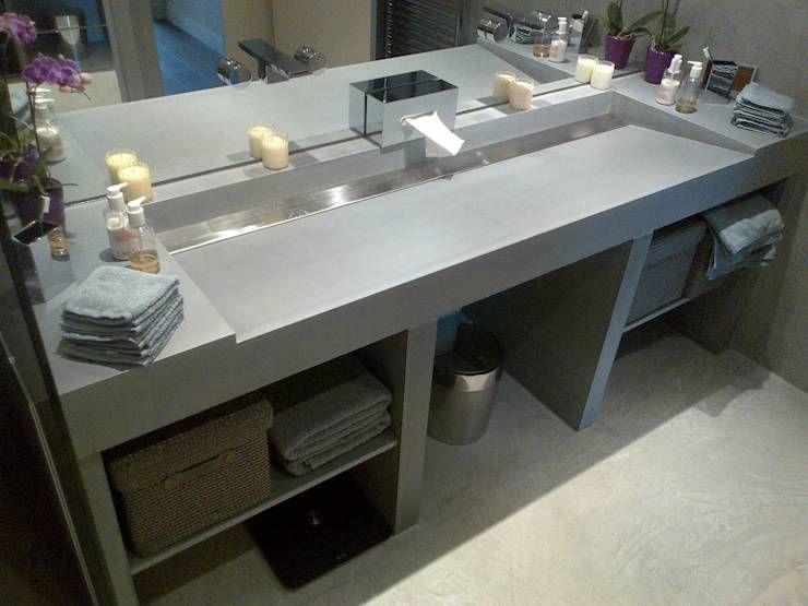 Exceptionnel Fabriquer Meuble Haut Cuisine 0 Salle De Bain En Placo Beton