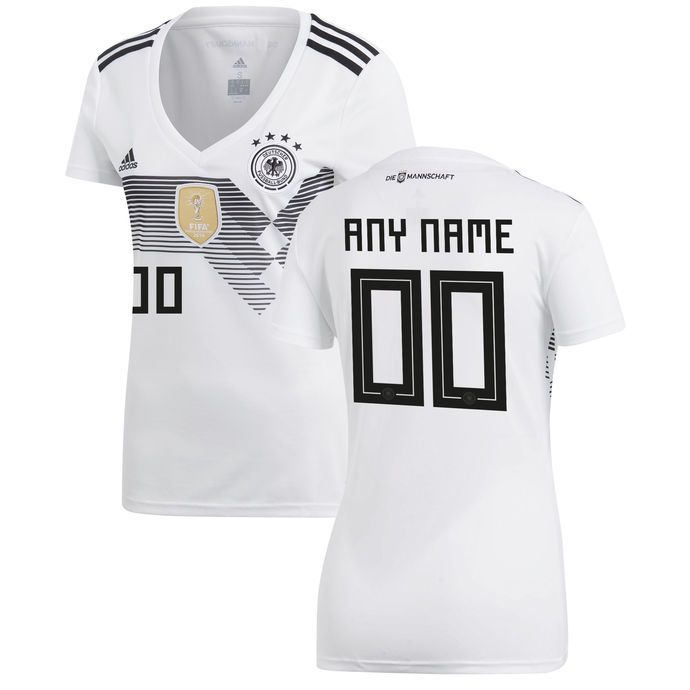 73ca86bde Women s Germany National Team Soccer 2018-2019 Home Blank Custom Jersey -  White by worldsoccer