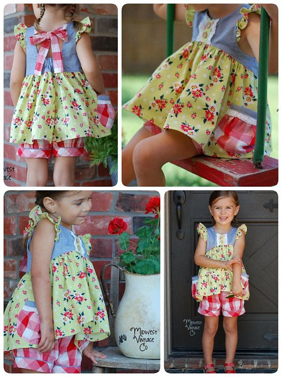 The Eleanor Dress, Top and Romper PDF Sewing Pattern Size 12 month ...