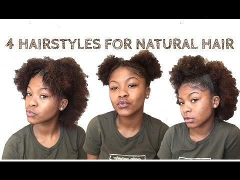 4 Quick Easy Hairstyles For Short Medium Natural Hair Medium