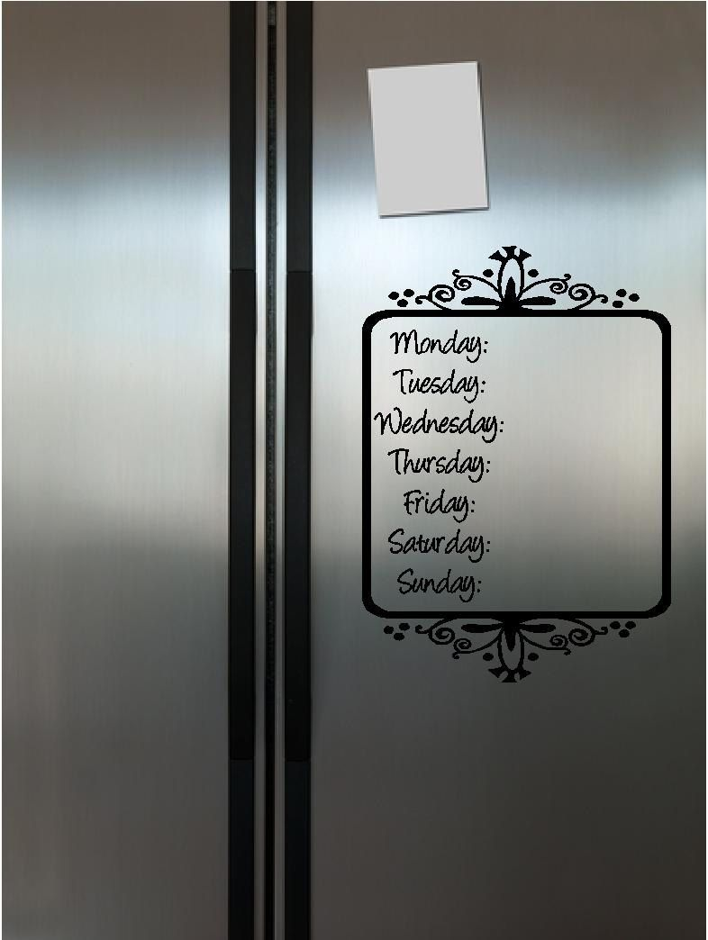 Pin By Yvie On For The Home Vinyl Decals Menu Planners Vinyl