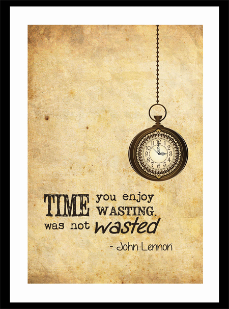 Vintage Style Wall Art Print - John Lennon Quote - Time | MadeIt ...