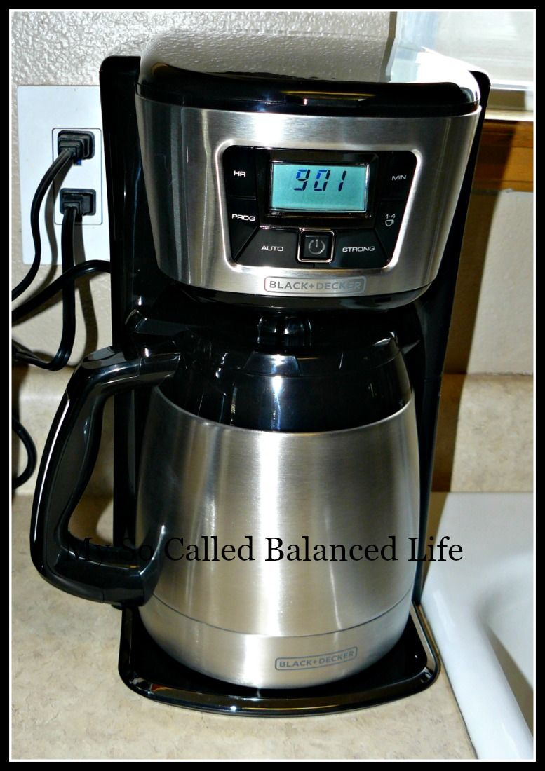 Blackdecker thermal programmable cup coffee maker holiday