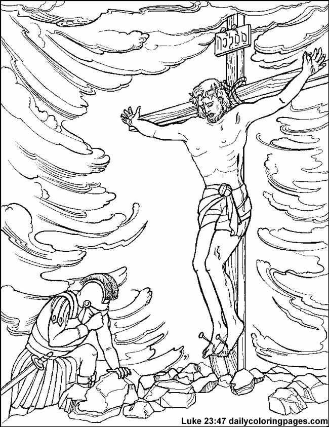 New Coloring Pages Of Jesus On The Cross 18 Crucifixion and Resurrection of
