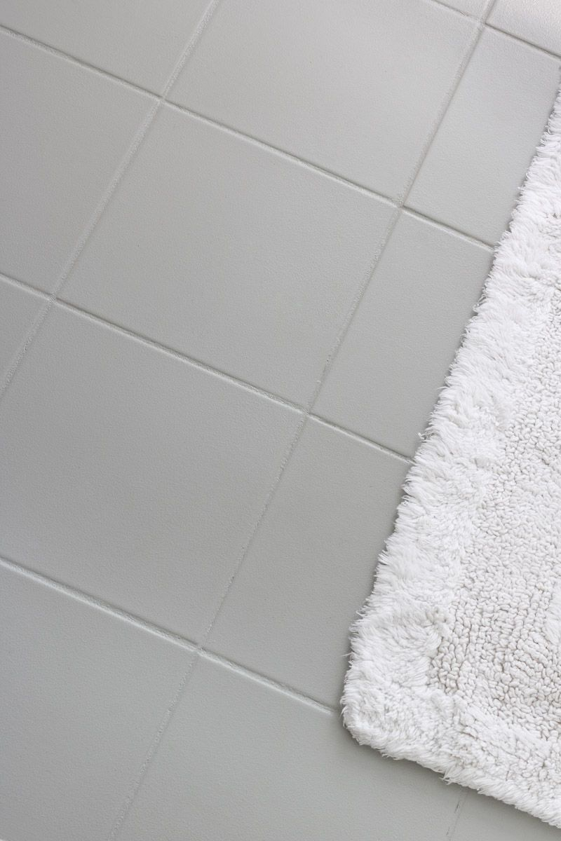 Ugly ceramic floor tile painted with gray floor patio paint love ugly ceramic floor tile painted with gray floor patio paint love how it turned dailygadgetfo Images
