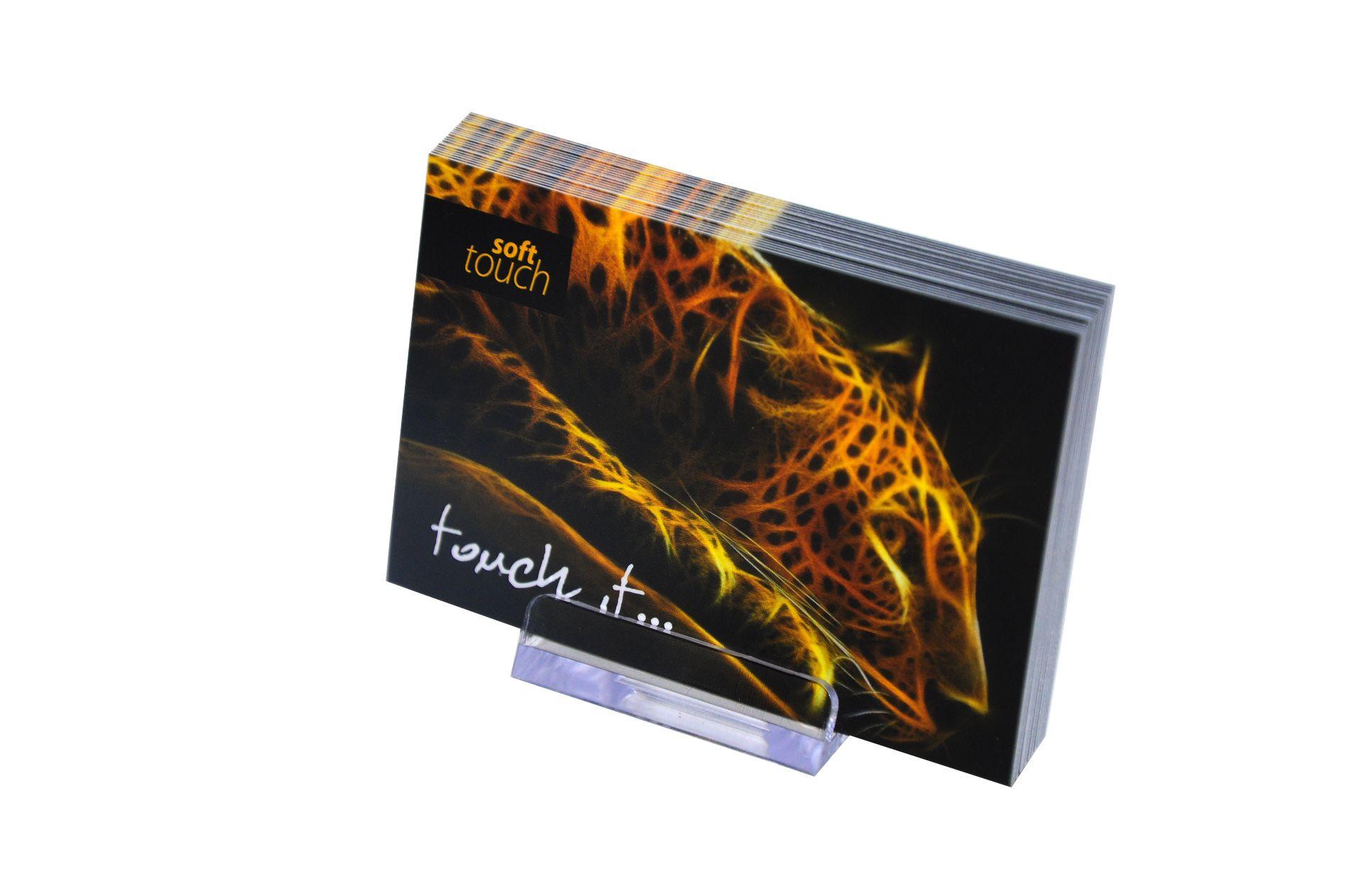 Visitenkarte mit Softtouch-Folie