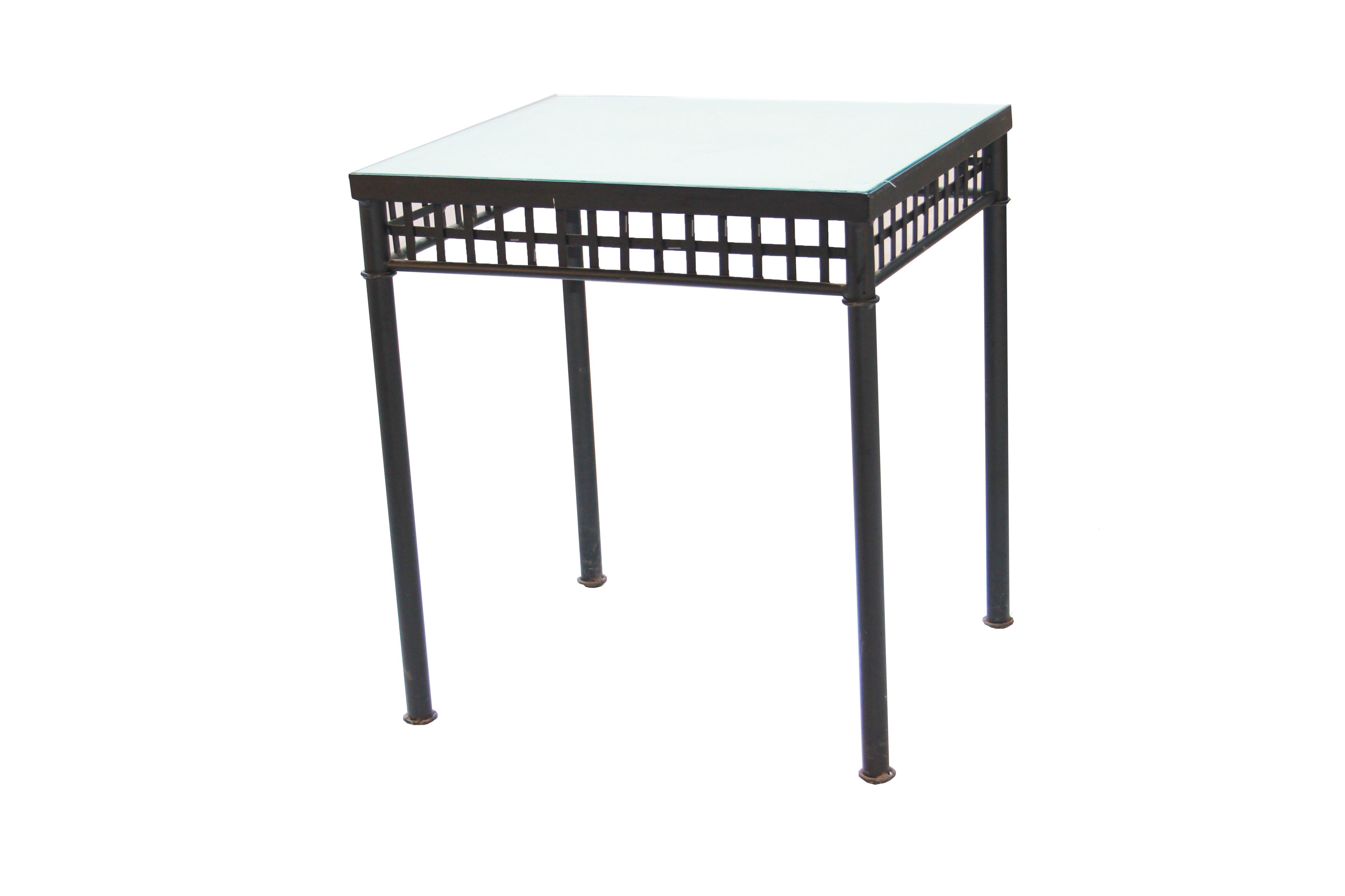 Mesa comedor, salón o terraza , fabricada en forja con ...