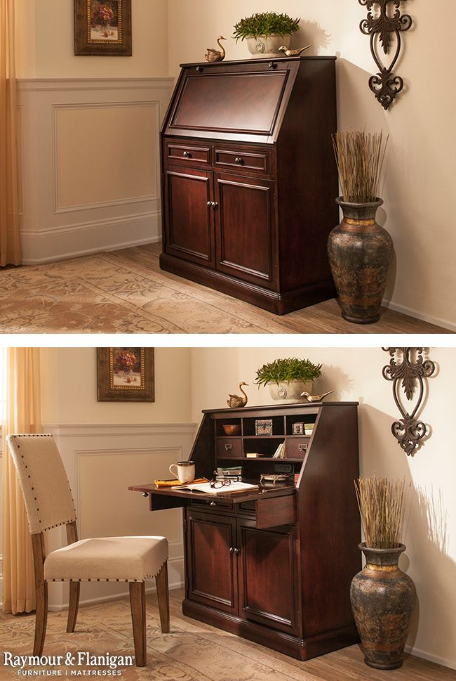 Hide A Home Office In Plain Sight With This Jennings Laptop Desk Armoire When Closed