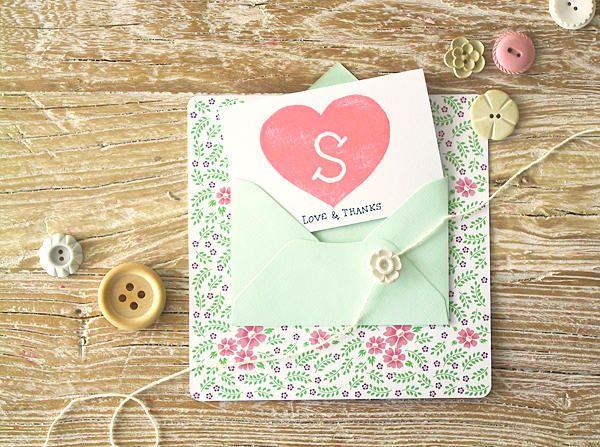 diy bridesmaid thank you cards once wed initials bridesmaid