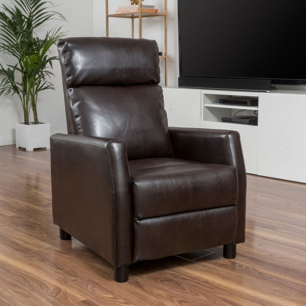 Bonded Brown Leather Recliner Chair. Recliner ChairsChaise Lounge ... Awesome Design