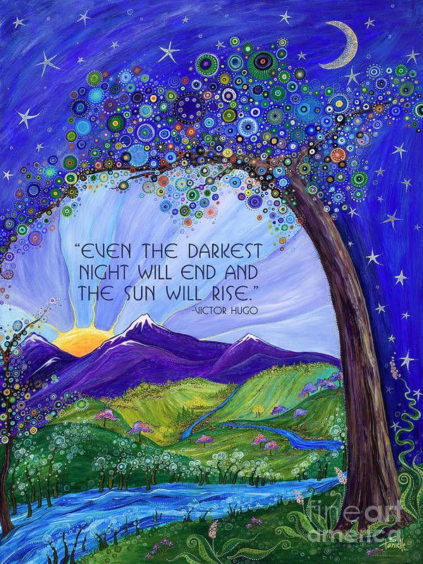 Dreaming Tree with Quote Art Print by Tanielle Childers