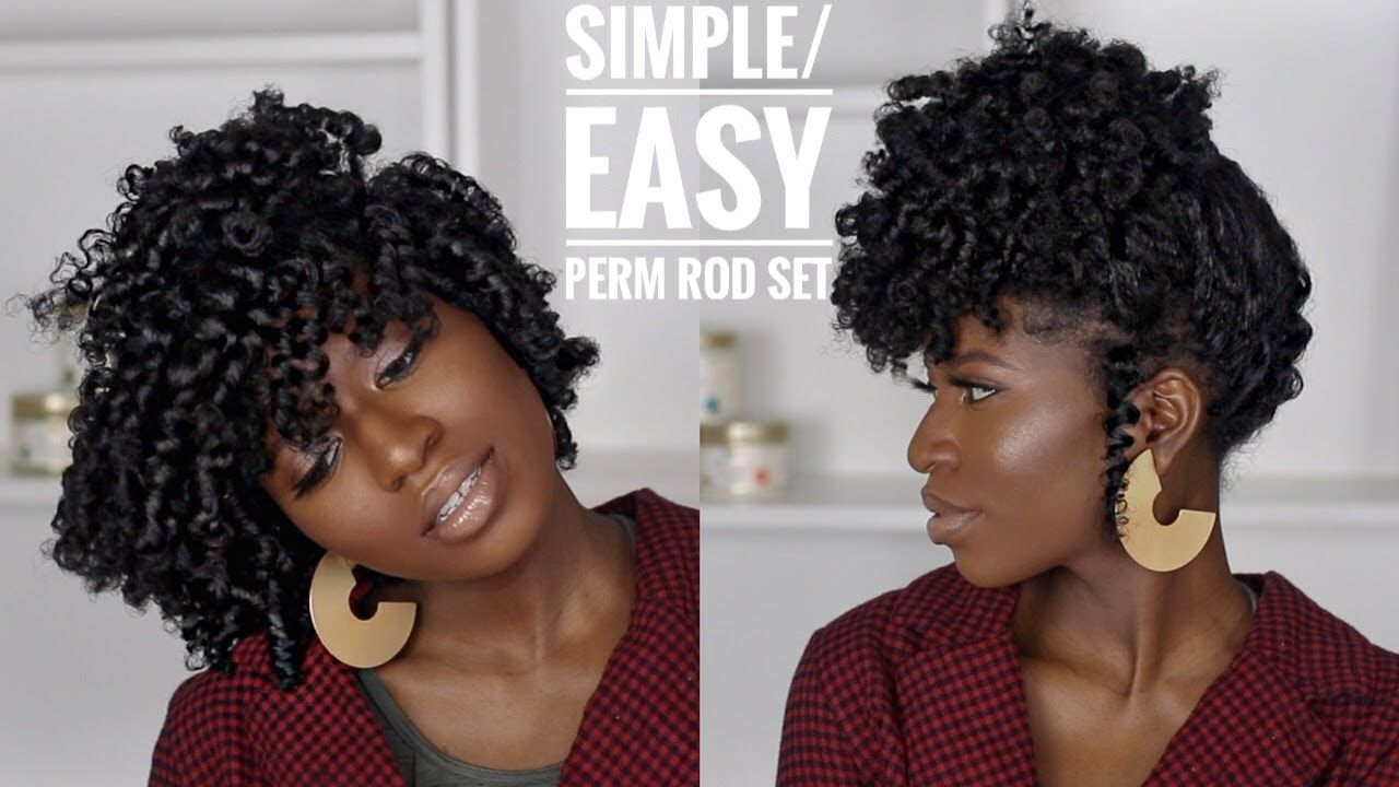 Simple Perm Rod Set ft. African Pride Moisture Miracle