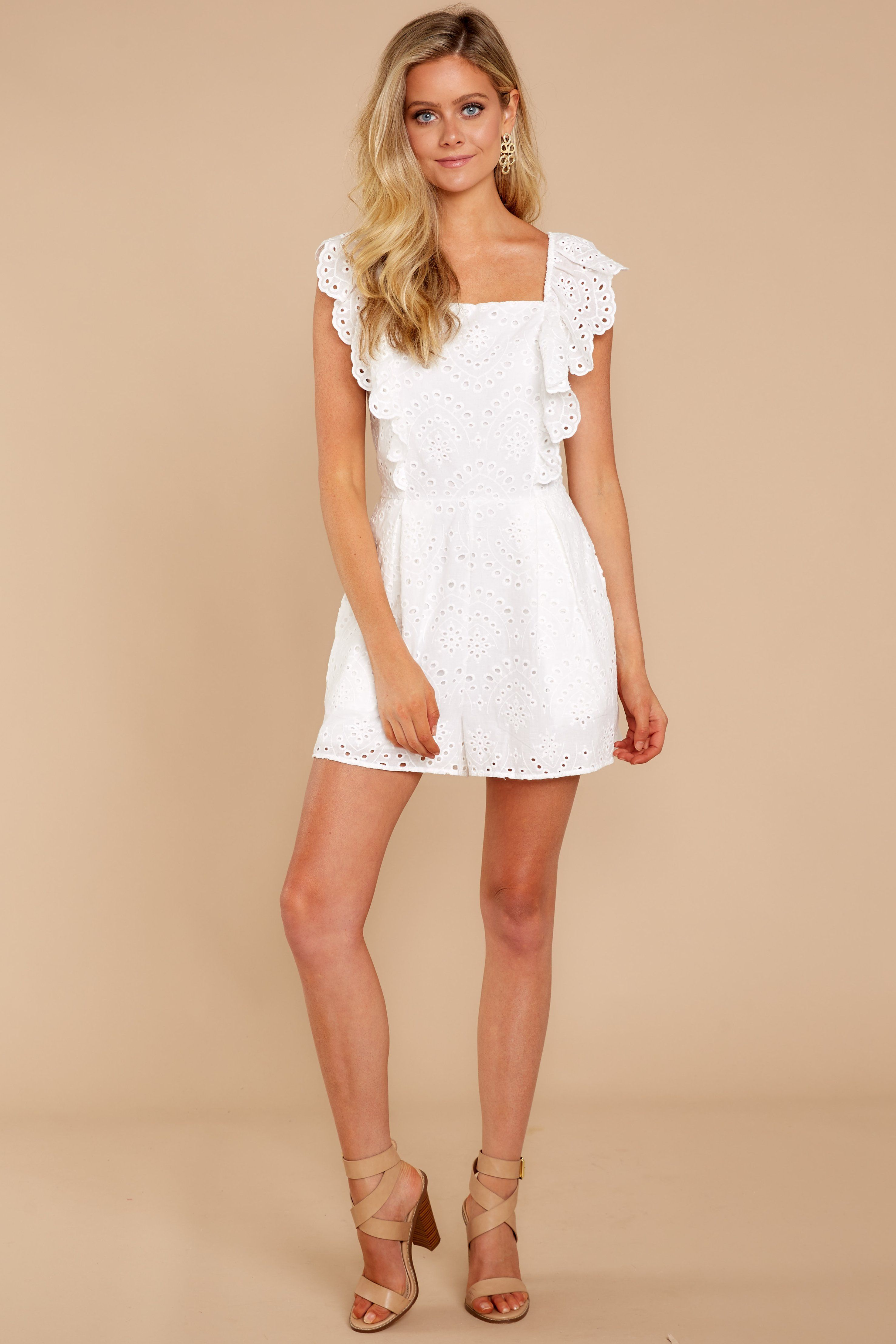 5efa3e45e15 Sweetest Touch White Eyelet Romper – Red Dress Boutique
