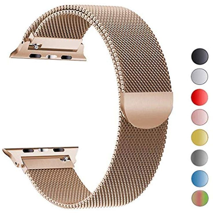 Tervoka Ersatz Armbander Fur Apple Watch Series 4 40mm Und Series 3 2 1 38mm Gold Mesh Schlaufe Mit Magnetverschluss Aus Edels Kol Bandi Apple Watch Elektronik