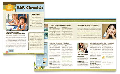 Child Development School Newsletter Template by @StockLayouts ...