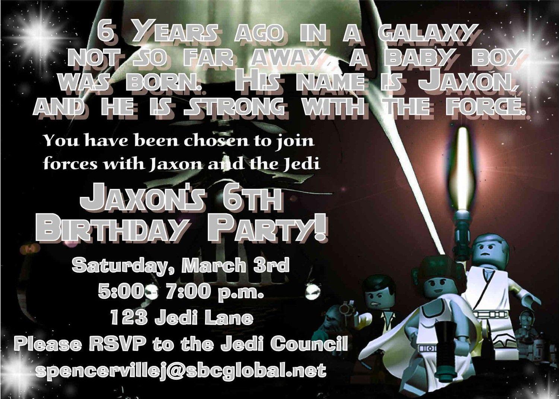 Star Wars Birthday Party Invitations Printable | Birthday parties ...