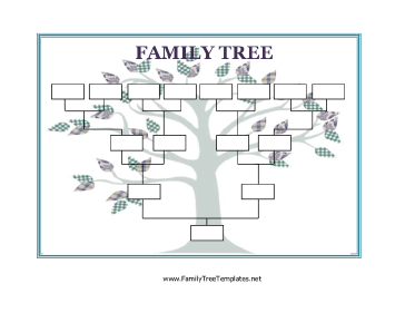 Use this Blank Family Tree with stylized leaves to collect and ...