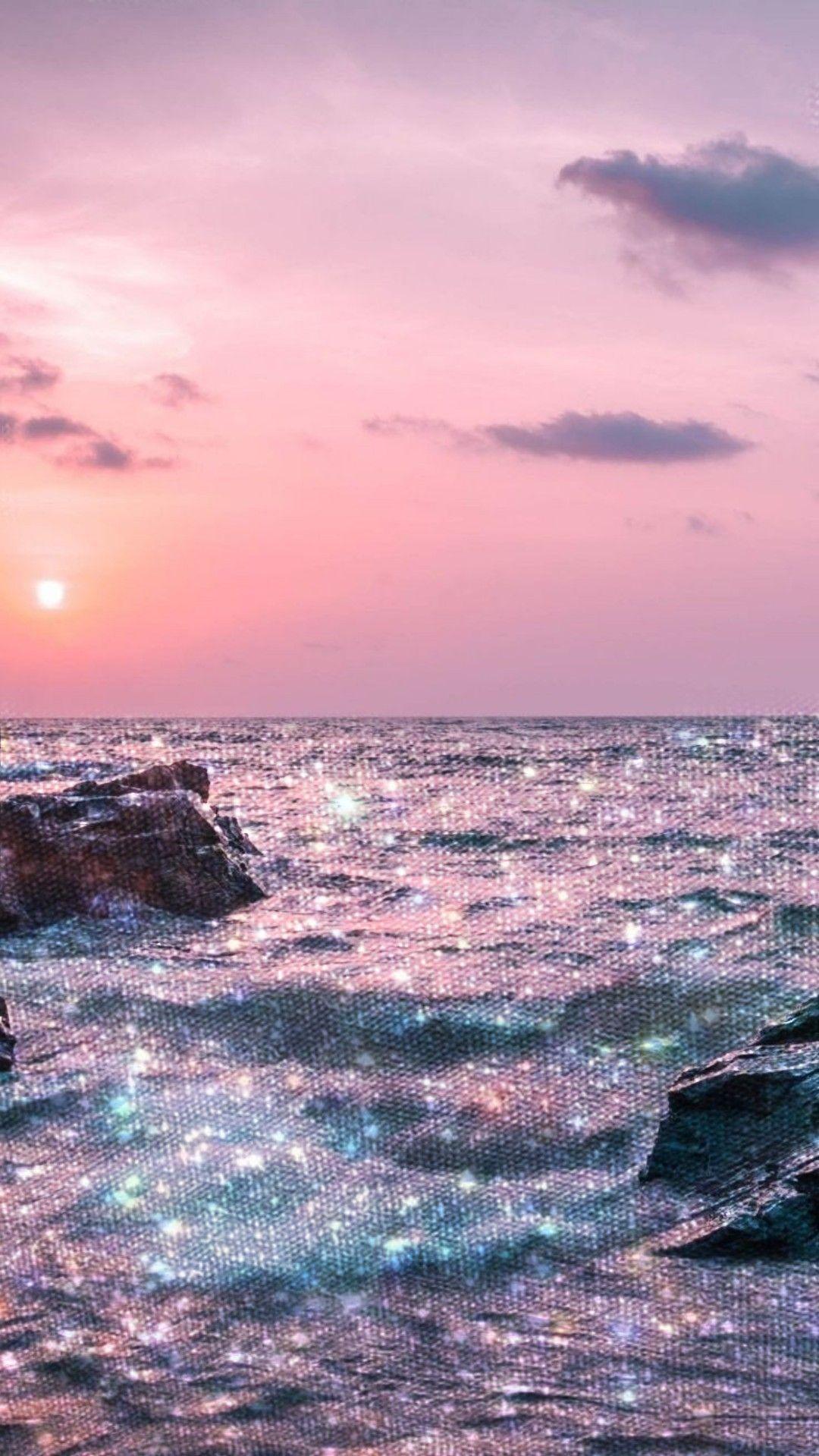 Sea Glitter Effect Aesthetic Wallpapers Aesthetic Pastel Wallpaper Aesthetic Iphone Wallpaper