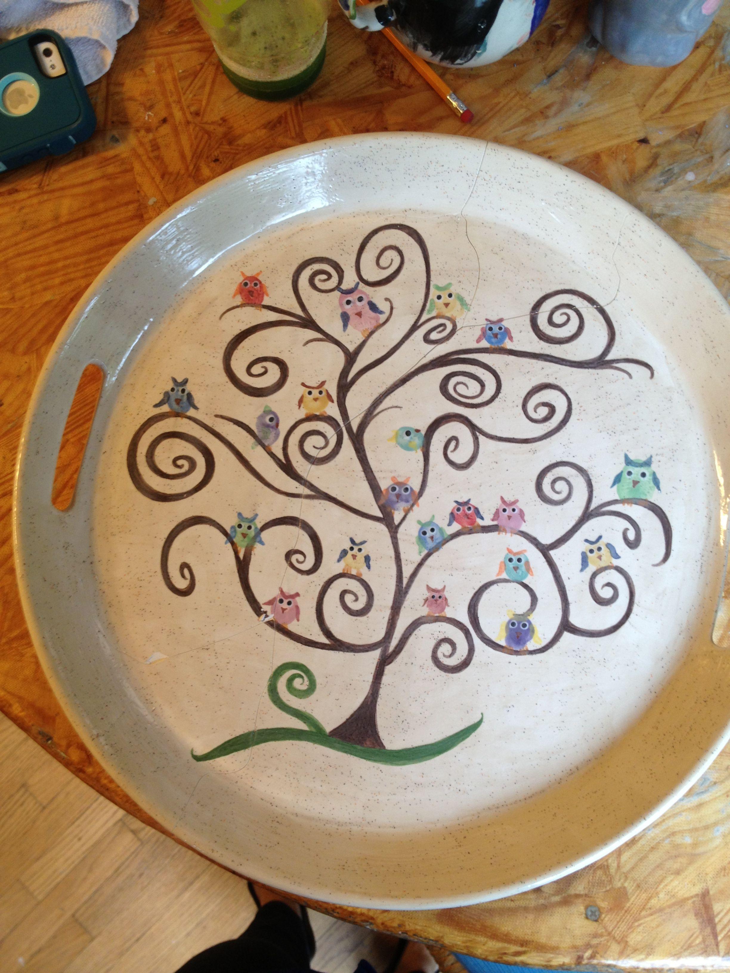 Owl Thumbprints Pto Art Auction Projects School