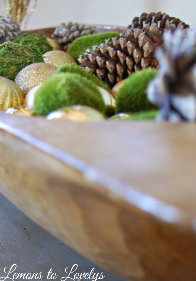 Pretty Christmas bowl fillers from Dollar Tree!   Lemons to Lovelys ...