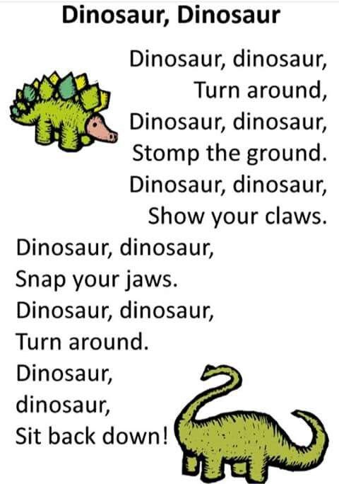 Dino Song Preschool Songs Classroom Songs Dinosaurs Preschool Dinosaur song for preschool kids