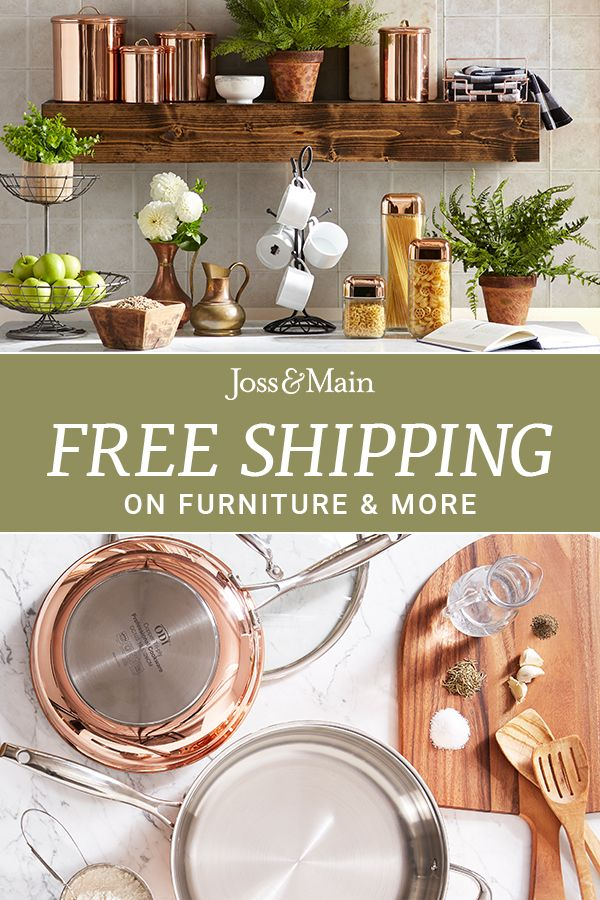 Whether you're prepping a simple meal or whipping together a feast, a functional kitchen is a must-have! Shop furniture, tools & more to transform your kitchen. Sign up now at jossandmain.com!
