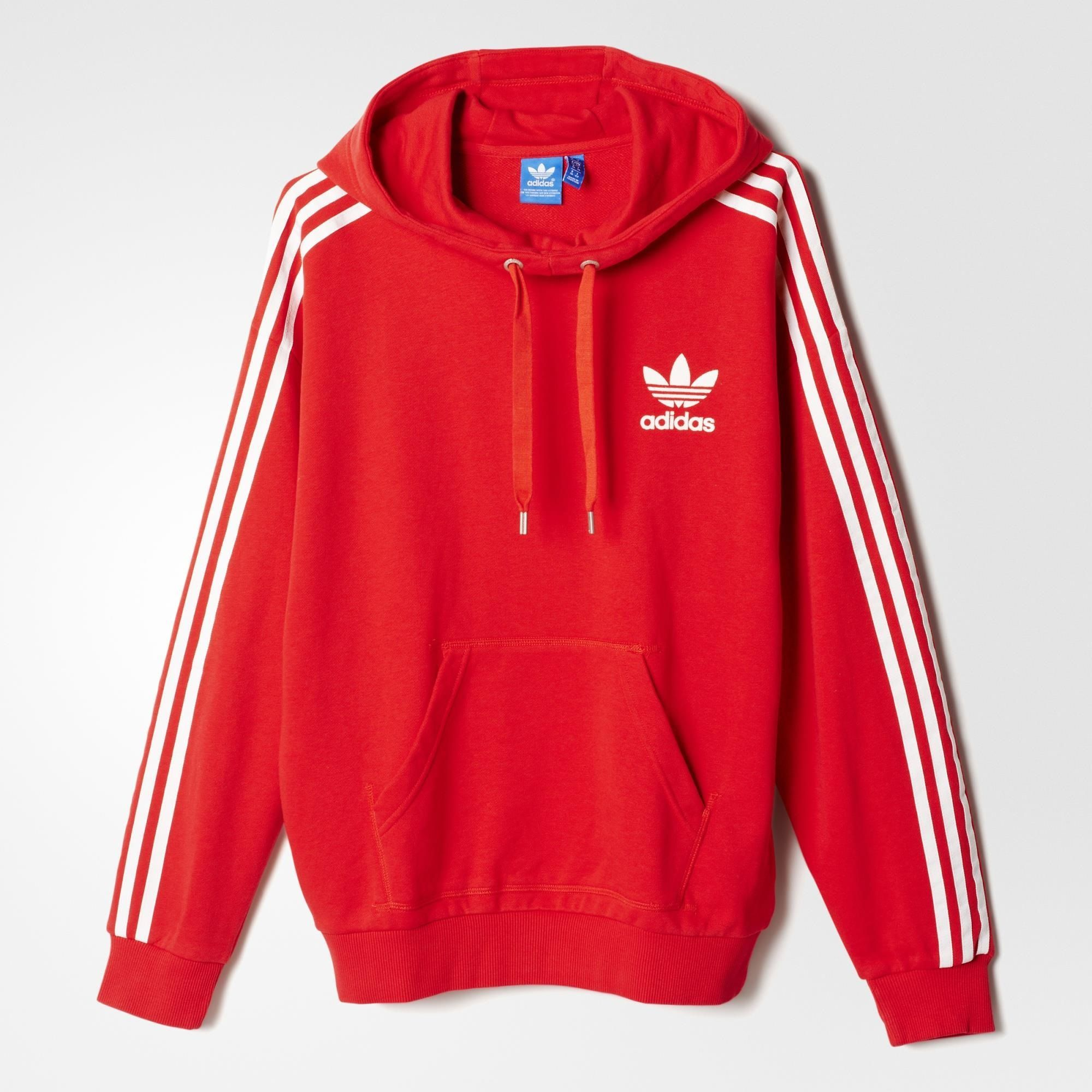 adidas 3-Stripes Hoodie - Tomato | adidas US in 2019 ...