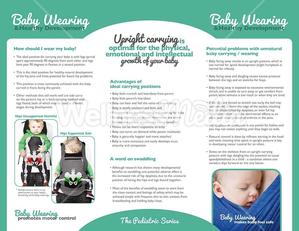 Infographic Baby carrying, Baby wearing, Emotions