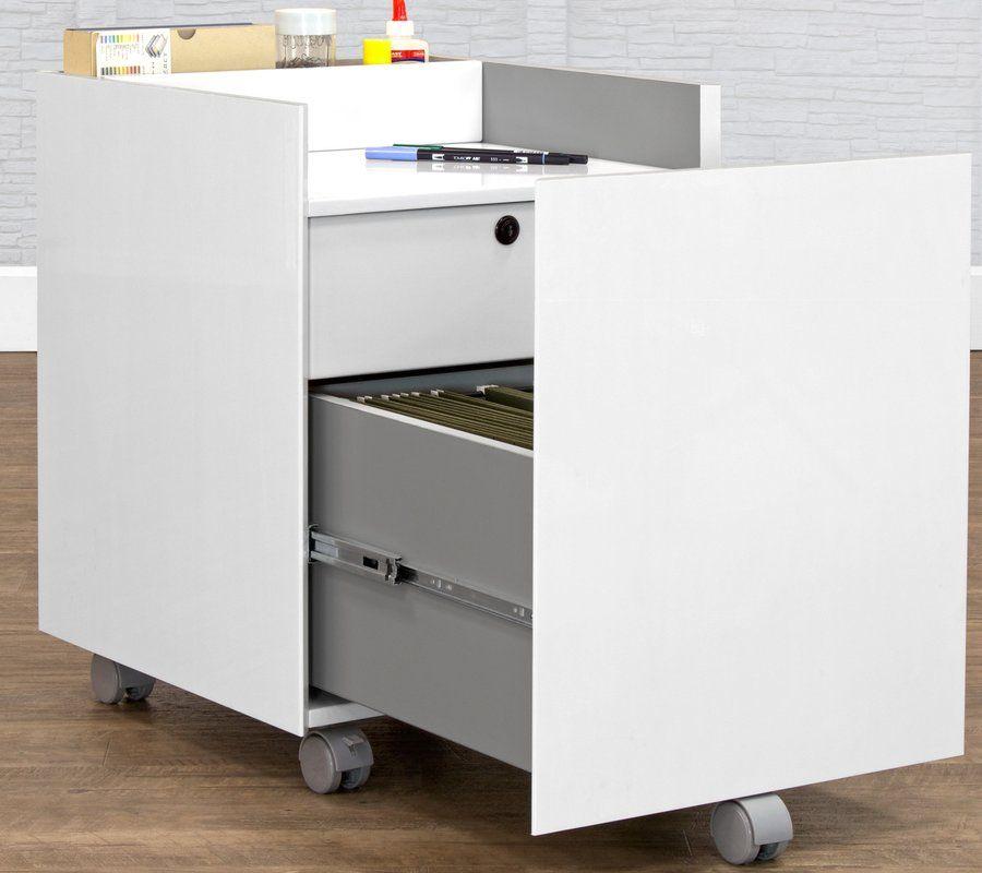 Niche 2 Drawer Mobile Vertical Filing Cabinet Filing Cabinet Cabinet Home Office Furniture