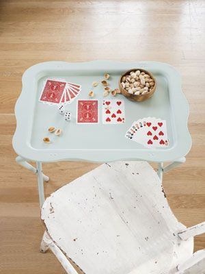 How To Decoupage Metal Tables Decoupage Metal Tv Trays
