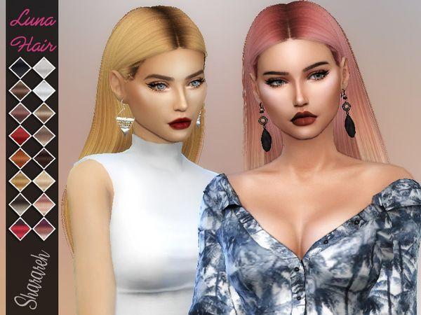 The Sims 4 Luna Hair Retexture Sims The Sims Sims I Włosy