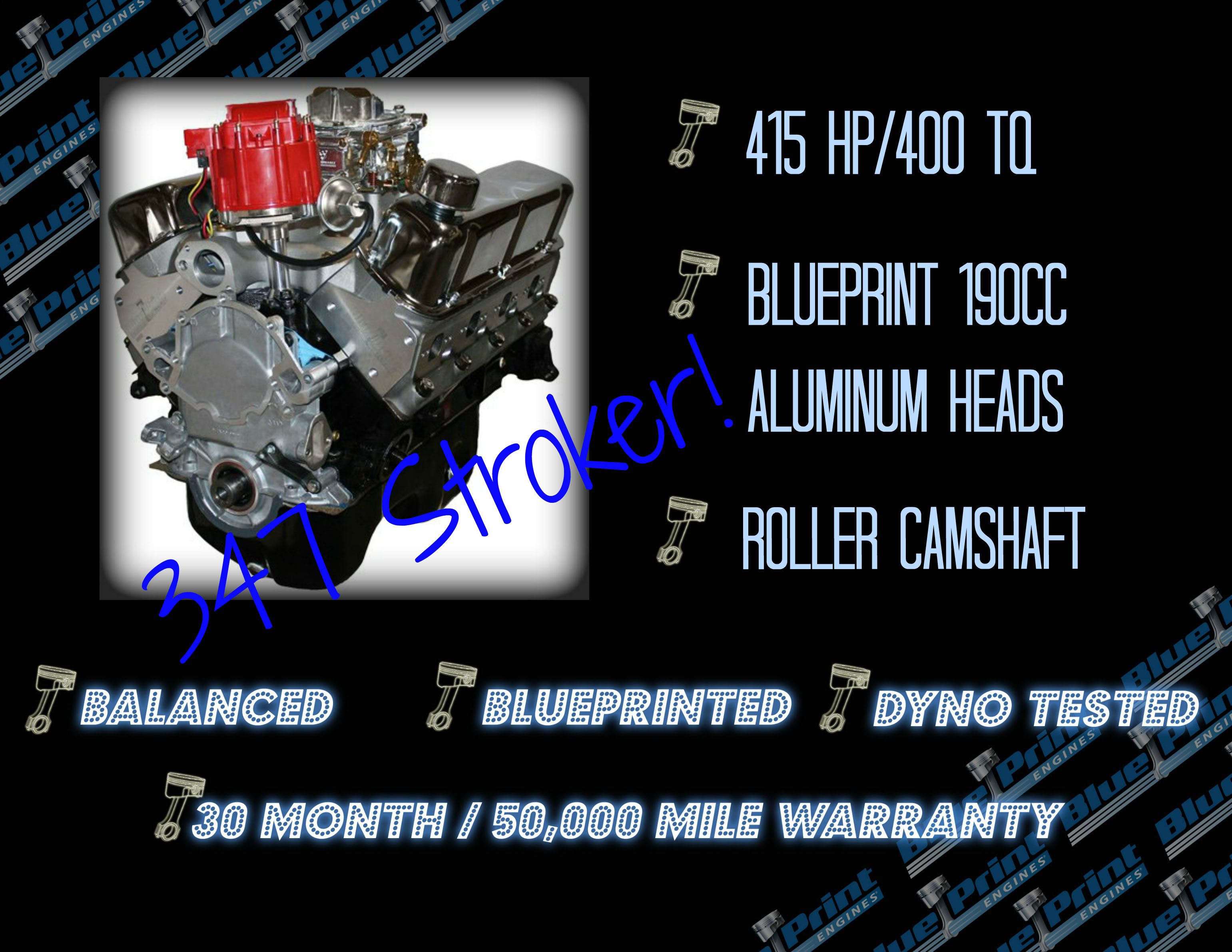 347CI Stroker Crate Engine | Small Block Ford Style
