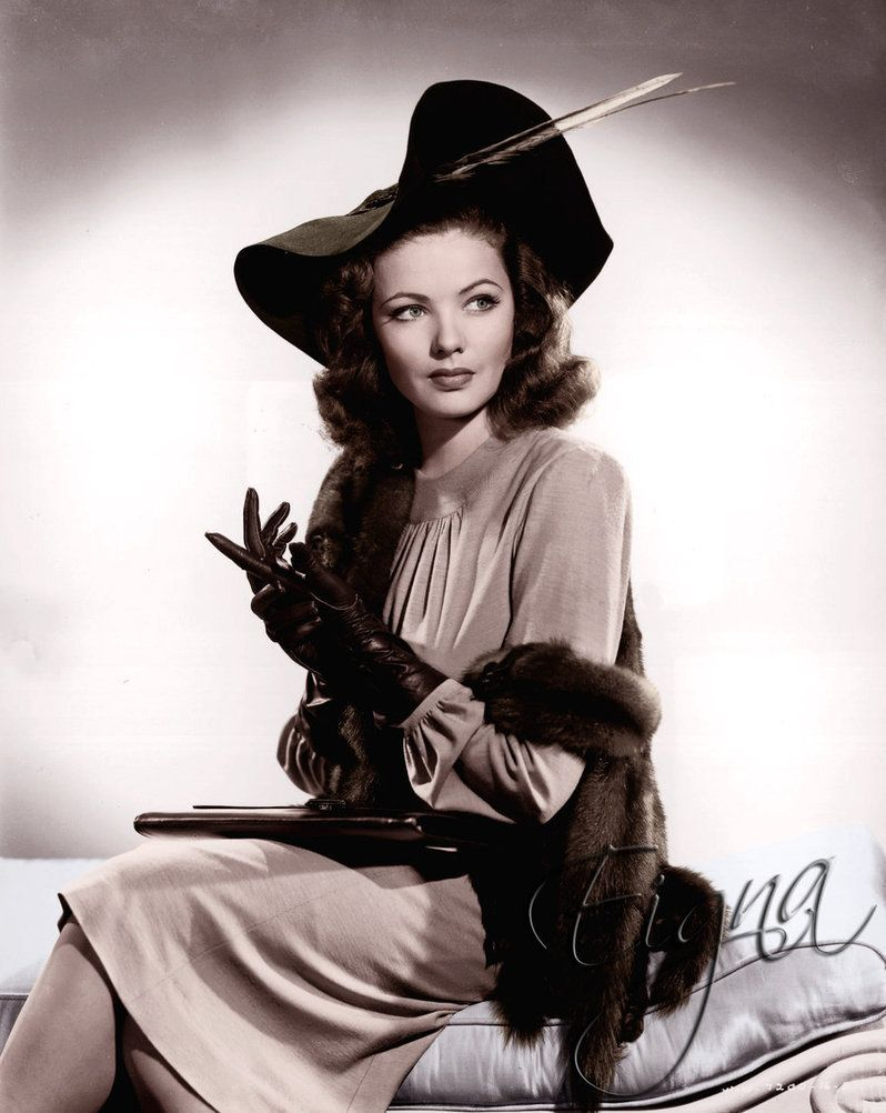 1940s Gene Tierney ~ she knew how to dress up!