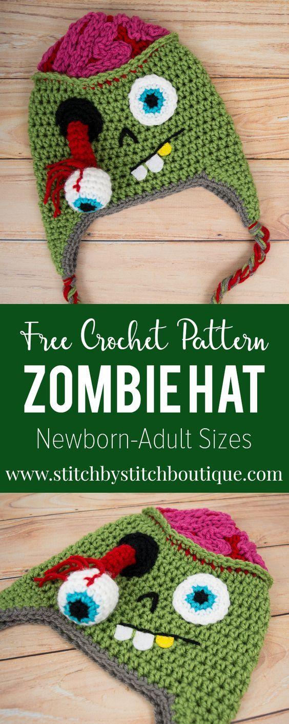 Zombie Hat   Free crochet hat patterns, Free crochet and Crochet
