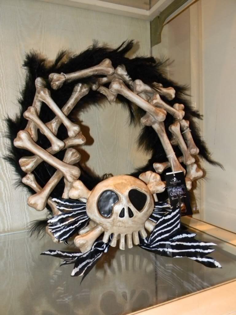 Jack Skellington Decorations Halloween Disney Event Nightmare Before Christmas Bone Holiday Door Wreath