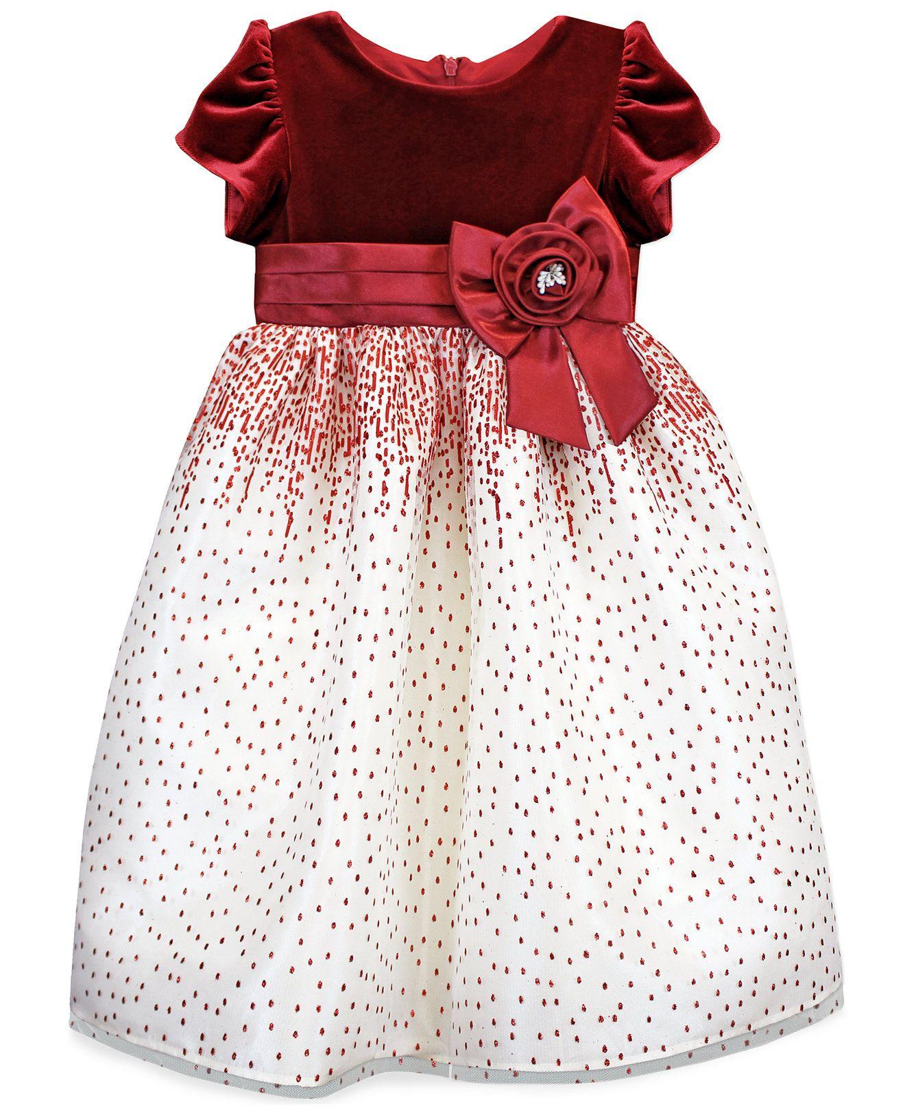 Jayne Copeland Girls' Velvet Holiday Dress - Kids - Macy's | Happy ...