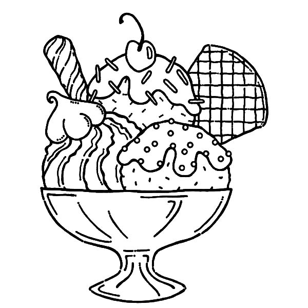 Ice Cream Served With Wafer And Whipped Cream Coloring Pages Bulk Color Ice Cream Coloring Pages Coloring Pages Cute Coloring Pages