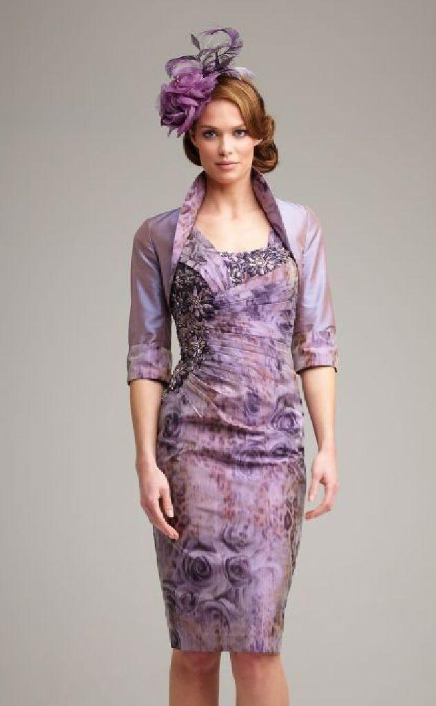 PLUM DRESSES | ... Mother of the Bride » John Charles 25443 Antique Plum Dress & Bolero