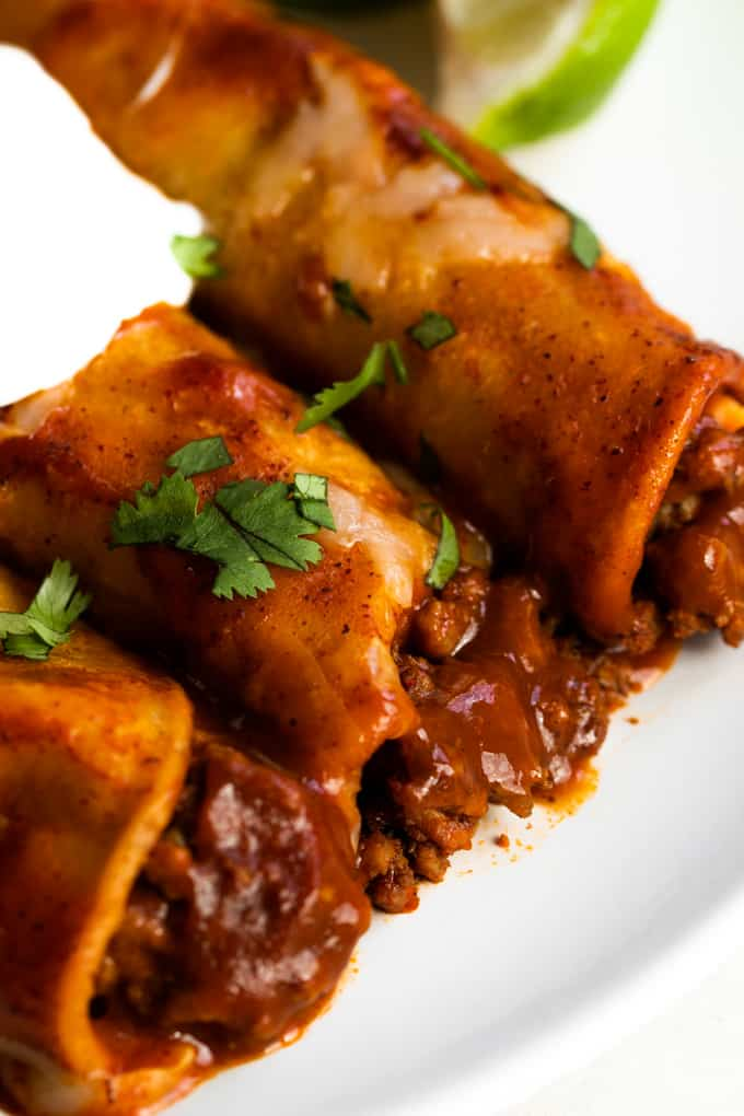 Authentic Beef Enchiladas Recipe Beef Enchilada Recipe Beef Enchiladas Mexican Food Recipes