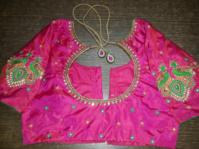 Pin by sai latha on blouse design pinterest blouse designs indian designer wear indian designers blouse patterns blouse designs hand designs embroidery works embroidery designs saree blouse sarees bankloansurffo Images
