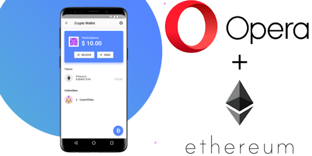 Payments Ethereum became available through the Opera
