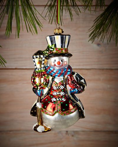 Neiman Marcus MacKenzie-Childs Jolly Snowman Christmas Ornament ...