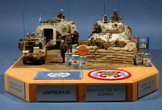 Unprofor Checkpoint Military Miniatures Pinterest