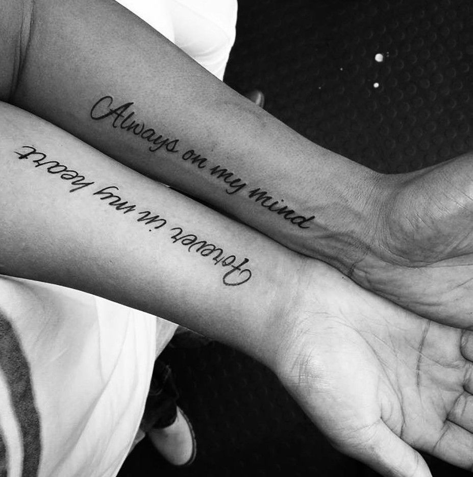 List of Pinterest Couples Tattoos Quotes pictures ...