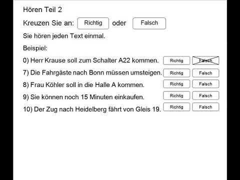 Start Deutsch A1 hören 👂 German A1 listing practice for