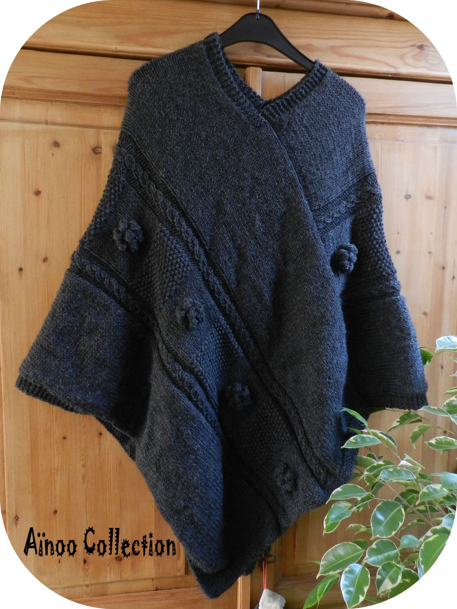 tricoter un poncho tricots pinterest tricoter tricot et crochet. Black Bedroom Furniture Sets. Home Design Ideas