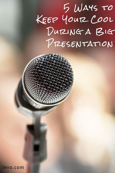 5 Ways To Keep Your Cool During A Big Presentation Presentation Life After High School Cool Stuff