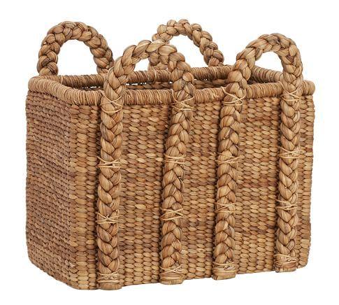 Beachcomber Lidded Basket   Pottery Barn